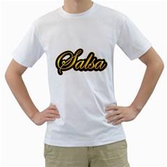 Salsa Vintage Gold Men s T-Shirt (White)