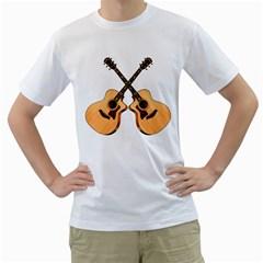 Double Taylor Acoustic Guitars Men s T-Shirt (White)