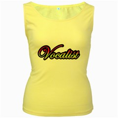 Vocalist Colorful Women s Tank Top (yellow)