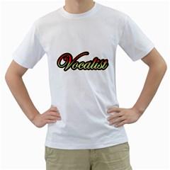 Vocalist Colorful Men s T-Shirt (White)