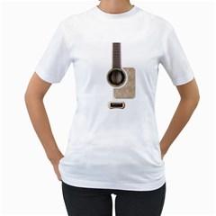 Wonderful Acoustic Guitar Parts Women s T-Shirt (White)