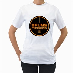 Drums Professional Women s T-Shirt (White)