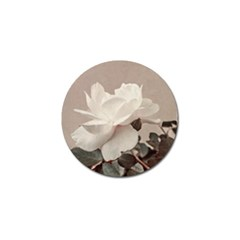 White Rose Vintage Style Photo In Ocher Colors Golf Ball Marker 10 Pack