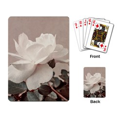 White Rose Vintage Style Photo In Ocher Colors Playing Cards Single Design