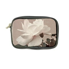 White Rose Vintage Style Photo In Ocher Colors Coin Purse