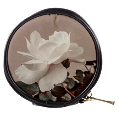 White Rose Vintage Style Photo In Ocher Colors Mini Makeup Case