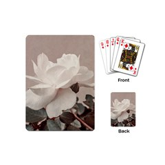 White Rose Vintage Style Photo In Ocher Colors Playing Cards (mini)