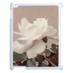 White Rose Vintage Style Photo In Ocher Colors Apple Ipad 2 Case (white)