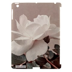 White Rose Vintage Style Photo In Ocher Colors Apple Ipad 3/4 Hardshell Case (compatible With Smart Cover)