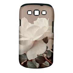 White Rose Vintage Style Photo in Ocher Colors Samsung Galaxy S III Classic Hardshell Case (PC+Silicone)