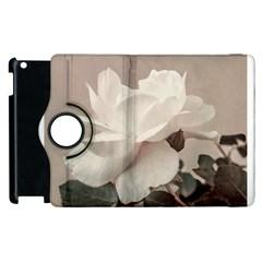 White Rose Vintage Style Photo in Ocher Colors Apple iPad 2 Flip 360 Case