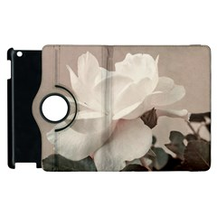 White Rose Vintage Style Photo in Ocher Colors Apple iPad 3/4 Flip 360 Case