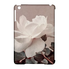 White Rose Vintage Style Photo In Ocher Colors Apple Ipad Mini Hardshell Case (compatible With Smart Cover)