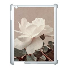 White Rose Vintage Style Photo In Ocher Colors Apple Ipad 3/4 Case (white)