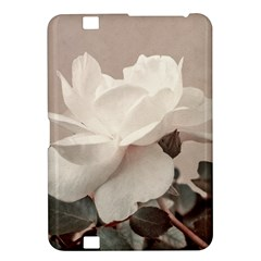 White Rose Vintage Style Photo In Ocher Colors Kindle Fire Hd 8 9  Hardshell Case