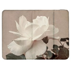 White Rose Vintage Style Photo in Ocher Colors Samsung Galaxy Tab 7  P1000 Flip Case