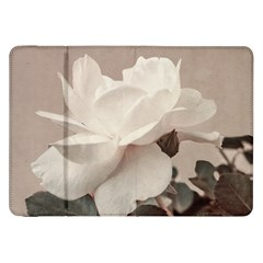 White Rose Vintage Style Photo in Ocher Colors Samsung Galaxy Tab 8.9  P7300 Flip Case