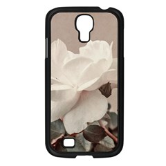 White Rose Vintage Style Photo In Ocher Colors Samsung Galaxy S4 I9500/ I9505 Case (black)
