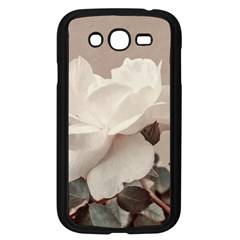 White Rose Vintage Style Photo In Ocher Colors Samsung Galaxy Grand Duos I9082 Case (black)