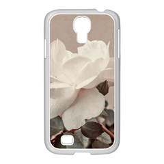 White Rose Vintage Style Photo in Ocher Colors Samsung GALAXY S4 I9500/ I9505 Case (White)