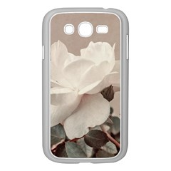 White Rose Vintage Style Photo in Ocher Colors Samsung Galaxy Grand DUOS I9082 Case (White)