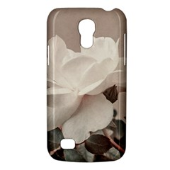 White Rose Vintage Style Photo In Ocher Colors Samsung Galaxy S4 Mini (gt I9190) Hardshell Case