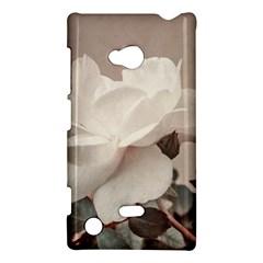 White Rose Vintage Style Photo in Ocher Colors Nokia Lumia 720 Hardshell Case
