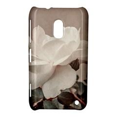 White Rose Vintage Style Photo In Ocher Colors Nokia Lumia 620 Hardshell Case