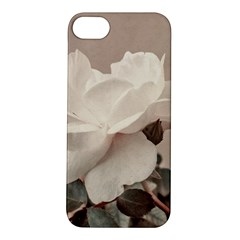 White Rose Vintage Style Photo In Ocher Colors Apple Iphone 5s Hardshell Case