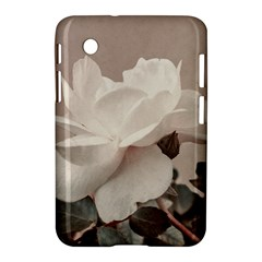White Rose Vintage Style Photo in Ocher Colors Samsung Galaxy Tab 2 (7 ) P3100 Hardshell Case