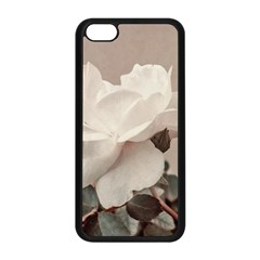 White Rose Vintage Style Photo In Ocher Colors Apple Iphone 5c Seamless Case (black)