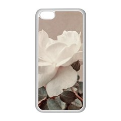 White Rose Vintage Style Photo In Ocher Colors Apple Iphone 5c Seamless Case (white)