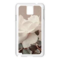 White Rose Vintage Style Photo In Ocher Colors Samsung Galaxy Note 3 N9005 Case (white)