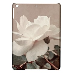 White Rose Vintage Style Photo In Ocher Colors Apple Ipad Air Hardshell Case