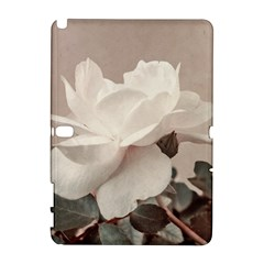 White Rose Vintage Style Photo in Ocher Colors Samsung Galaxy Note 10.1 (P600) Hardshell Case