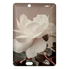 White Rose Vintage Style Photo in Ocher Colors Kindle Fire HD (2013) Hardshell Case