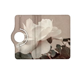 White Rose Vintage Style Photo in Ocher Colors Kindle Fire HD (2013) Flip 360 Case