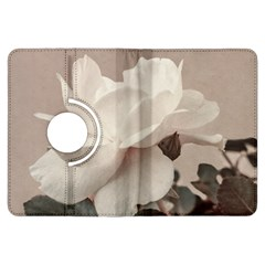 White Rose Vintage Style Photo In Ocher Colors Kindle Fire Hdx Flip 360 Case