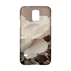 White Rose Vintage Style Photo in Ocher Colors Samsung Galaxy S5 Hardshell Case