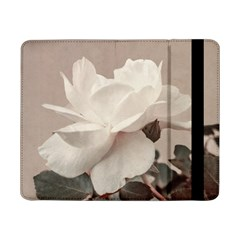 White Rose Vintage Style Photo In Ocher Colors Samsung Galaxy Tab Pro 8 4  Flip Case