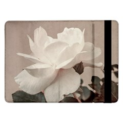White Rose Vintage Style Photo in Ocher Colors Samsung Galaxy Tab Pro 12.2  Flip Case
