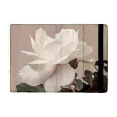 White Rose Vintage Style Photo in Ocher Colors Apple iPad Mini 2 Flip Case