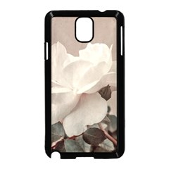 White Rose Vintage Style Photo in Ocher Colors Samsung Galaxy Note 3 Neo Hardshell Case (Black)