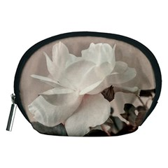 White Rose Vintage Style Photo in Ocher Colors Accessory Pouch (Medium)