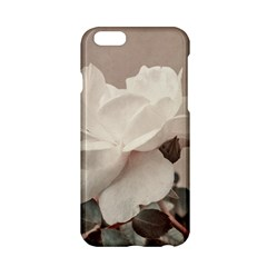 White Rose Vintage Style Photo in Ocher Colors Apple iPhone 6 Hardshell Case