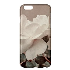 White Rose Vintage Style Photo in Ocher Colors Apple iPhone 6 Plus Hardshell Case