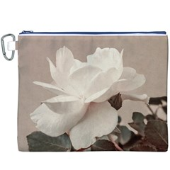 White Rose Vintage Style Photo in Ocher Colors Canvas Cosmetic Bag (XXXL)