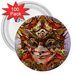 Star Clown 3  Button (100 Pack)