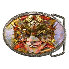 Star Clown Belt Buckle (oval)