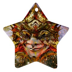 Star Clown Star Ornament (two Sides)